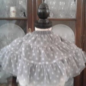 Carter's Toddler Tutu in Silver-Grey With Dots